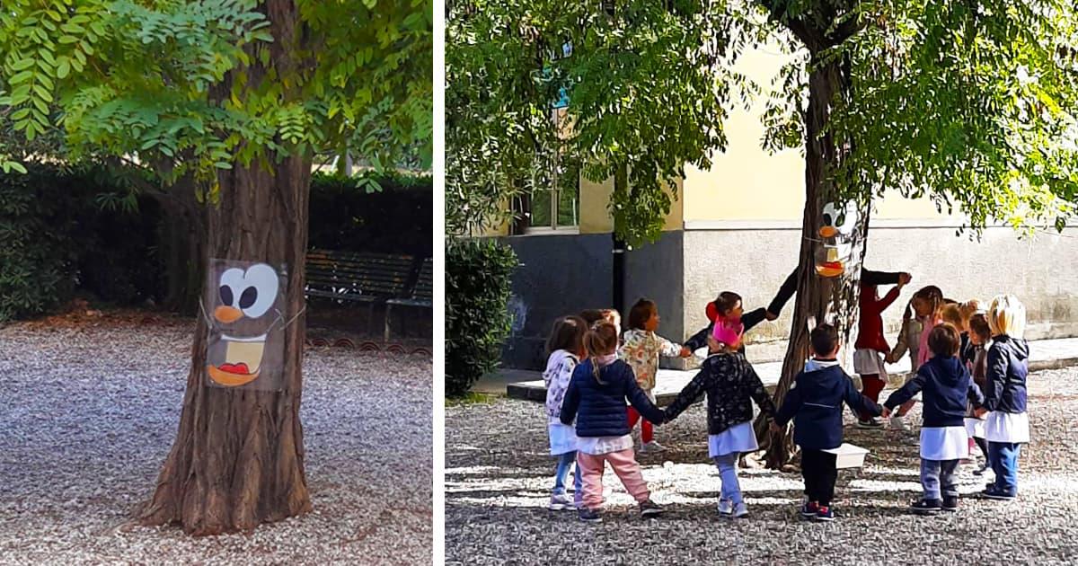 """Richiamati da una vocina insistente e misteriosa, i piccoli esploratori della Scuola dell'Infanzia """"Maria Ausiliatrice"""", sono andati alla scoperta del giardino autunnale. Tra foglie cadute, colori caldi ed un vento dispettoso hanno incontrato un nuovo grande amico: il Signor Alberobello. In mezzo al cortile della Scuola, maestoso e fiero, sta Alberobello; con le sue fronde […]"""