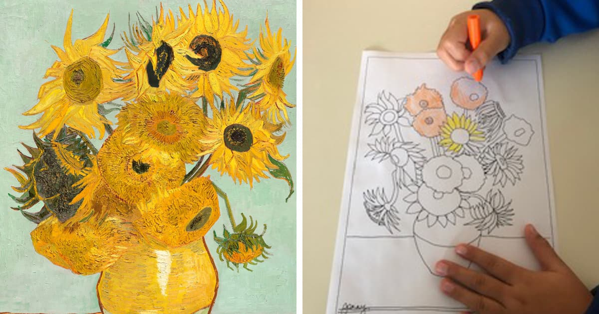 Scuola Primaria Maria Ausiliatrice – Classe Seconda. What a wonderful CLIL lesson today! First of all we learnt about the artist VINCENT VAN GOGH with his identity card. He was born in Holland and his nationality is Dutch! Then we studied the beautiful colours he uses and we reproduced a marvellous copy of SUNFLOWERS. To […]